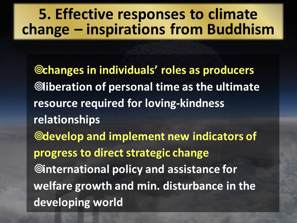 changes in individuals roles as producers liberation of personal time as the ultimate resource required for loving-kindness relationships develop and implement new indicators of progress to direct strategic change international policy and assistance for welfare growth and min.