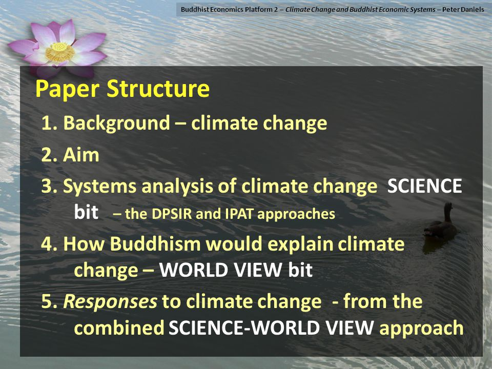 Paper Structure 1. Background – climate change 2.