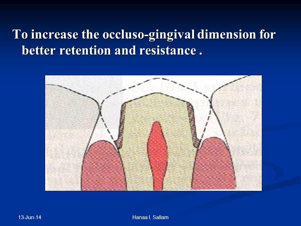 For esthetics in anterior region For esthetics in anterior region 13-Jun-14 Hanaa I. Sallam