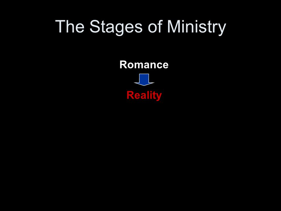 Romance Reality The Stages of Ministry