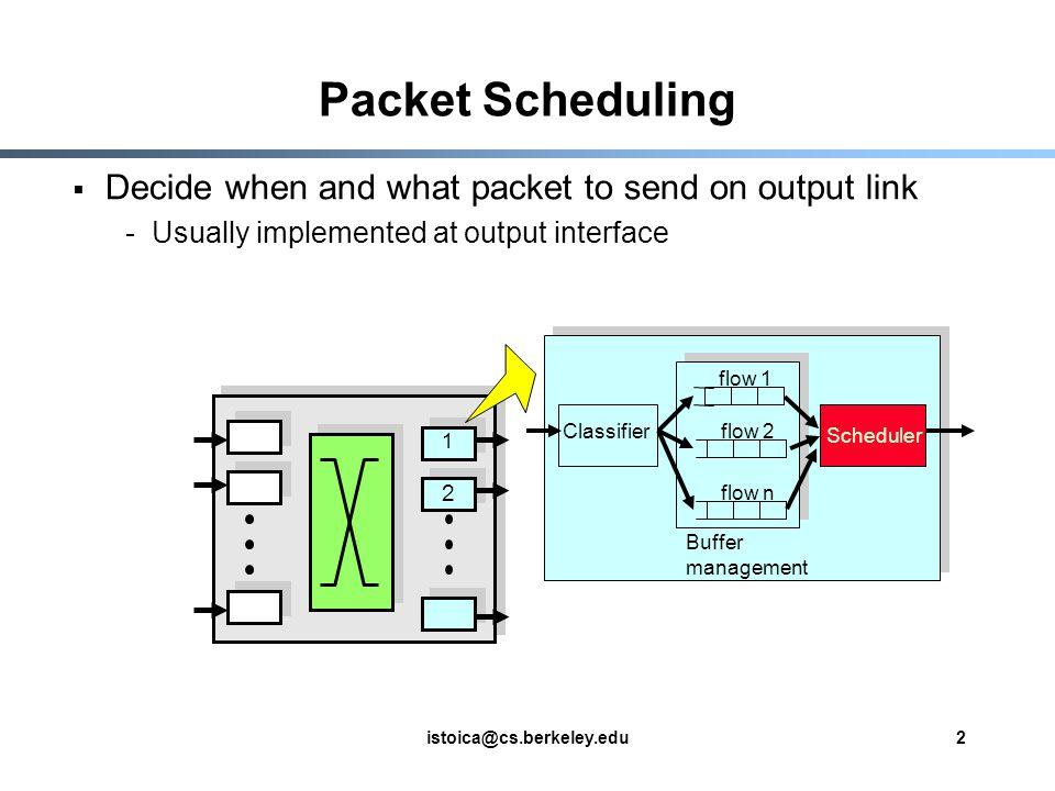 istoica@cs.berkeley.edu3 Why Packet Scheduling.