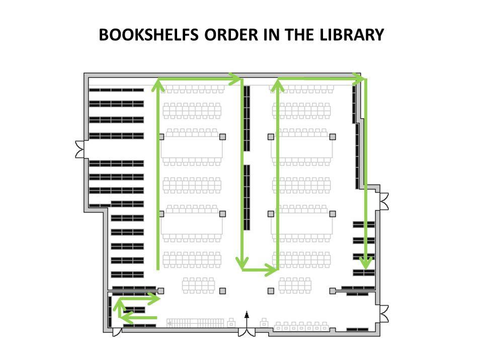 BOOKSHELFS ORDER IN THE LIBRARY