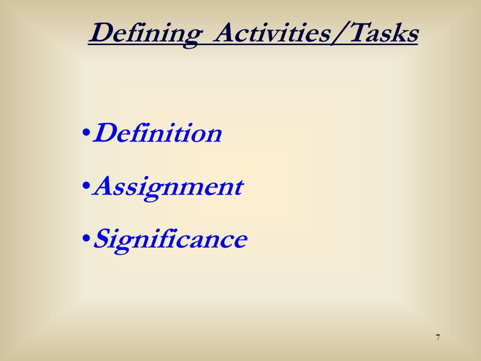 18 Activity A WBS CodeActivity Early Start (ES) Early Finish (EF) Late Start (LS) Late Finish (LF) Duration Total Float (TF) = 7 Activity E WBS CodeActivity Early Start (ES) Early Finish (EF) Late Start (LS) Late Finish (LF) Duration Total Float (TF) = 3 TWO THINGS NEEDED TO SET PROJECT START DATE 1.First and last activities (milestones) 2.Activity durations 1