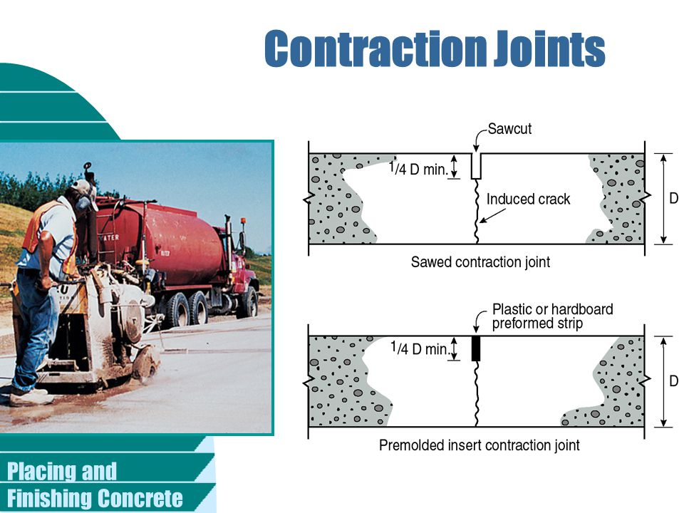 Placing and Finishing Concrete Contraction Joints