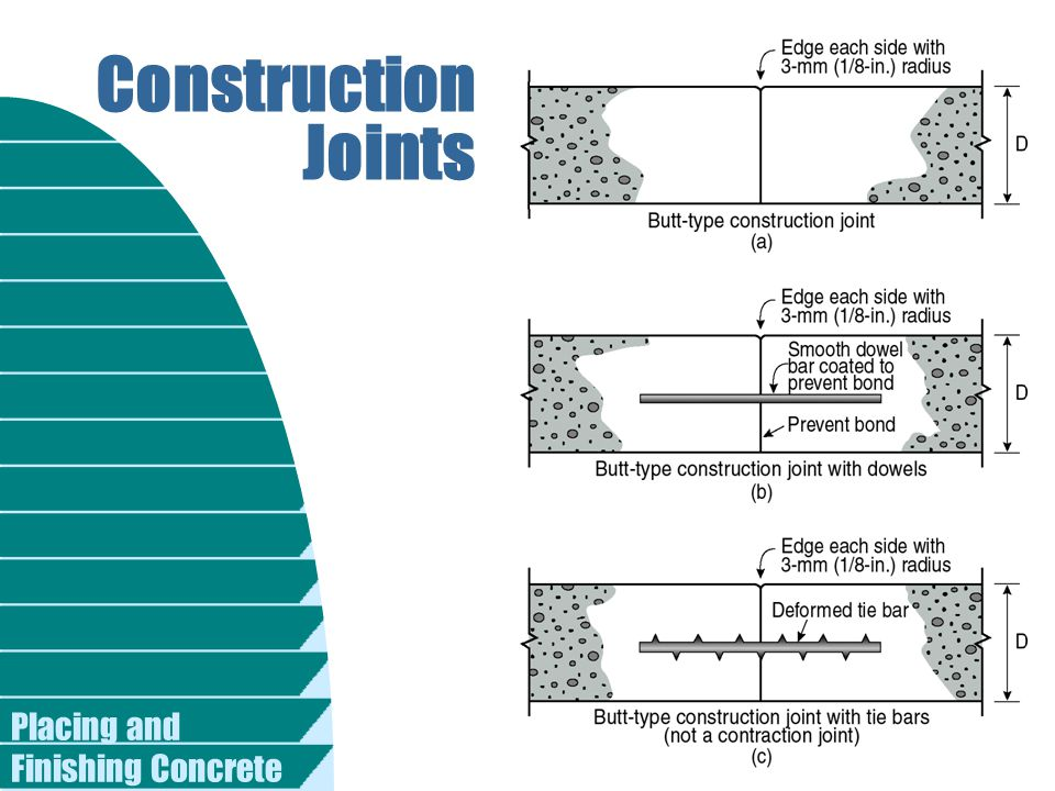 Placing and Finishing Concrete Construction Joints