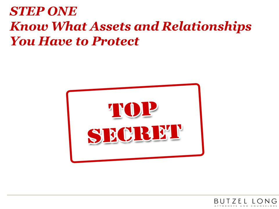 STEP THREE Immediate Actions/Remedies When Your Assets Are Threatened