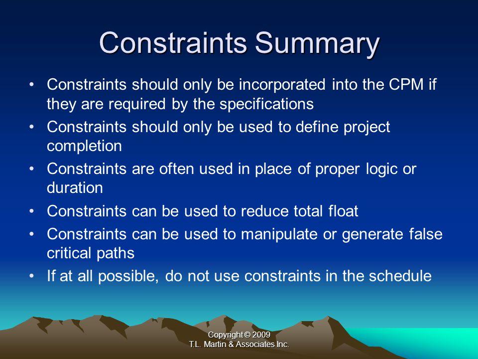 Copyright © 2009 T.L. Martin & Associates Inc. B. Software Calculation and Logic Overrides