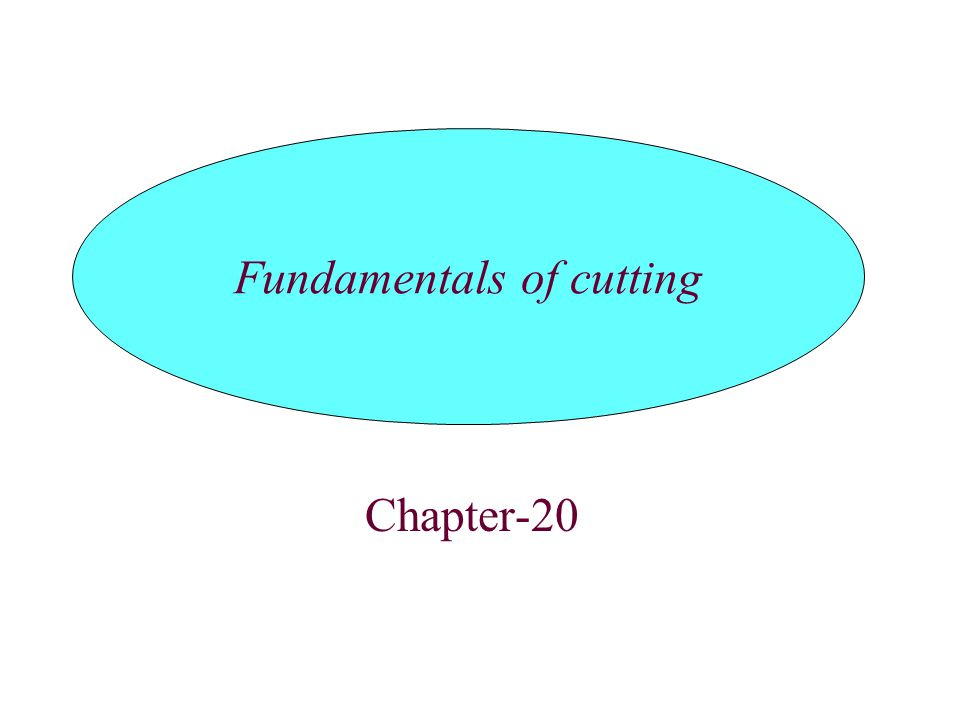 Introduction Mechanics of chip formation Types of chips produced in meta cutting Mechanics of oblique cutting Cutting forces and power Temperature in cutting Tool life : Wear and failure Surface finish and integrity Machinability TOPICS
