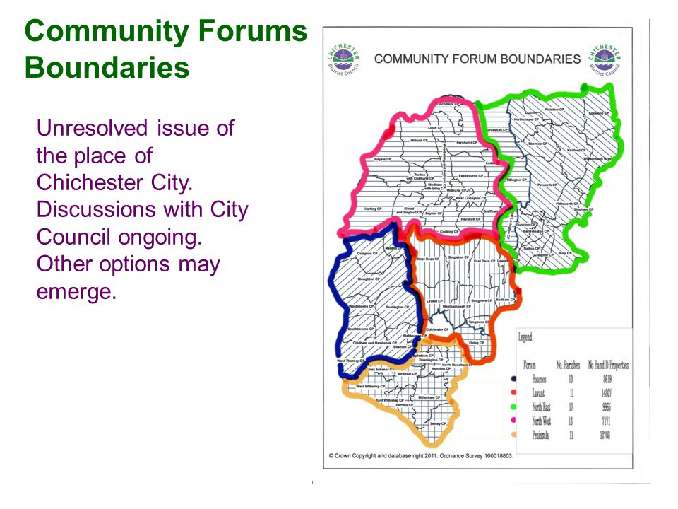 Community Forums Boundaries Unresolved issue of the place of Chichester City.