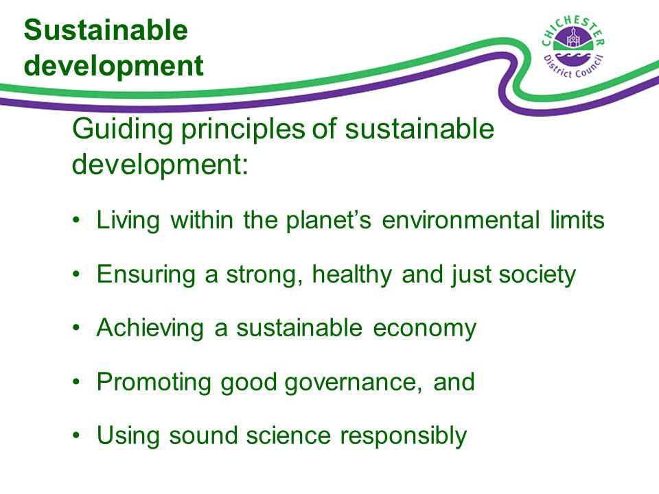 Dimensions of sustainable development An economic role A social role An environmental role