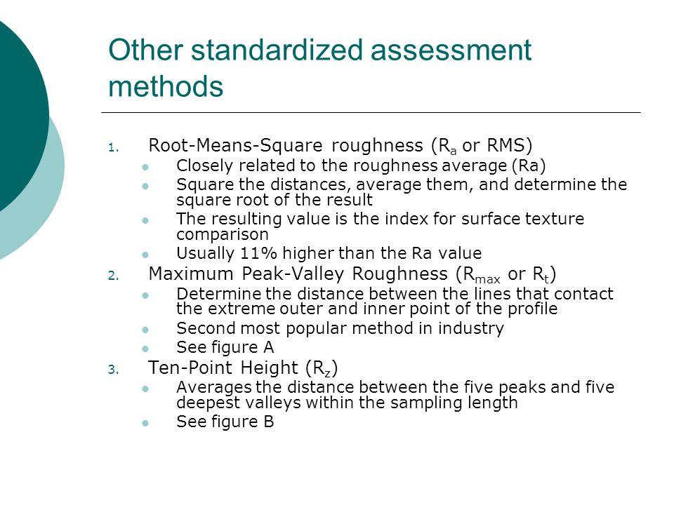Other standardized assessment methods 1.