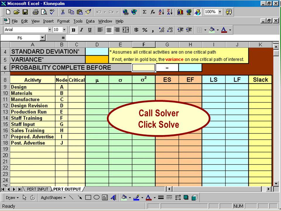 Call Solver Click Solve
