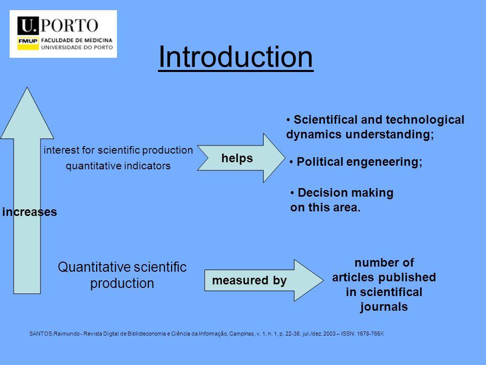 Introduction SANTOS,Raimundo - Revista Digital de Biblioteconomia e Ciência da Informação, Campinas, v. 1, n. 1, p. 22-38, jul./dez. 2003 – ISSN: 1678