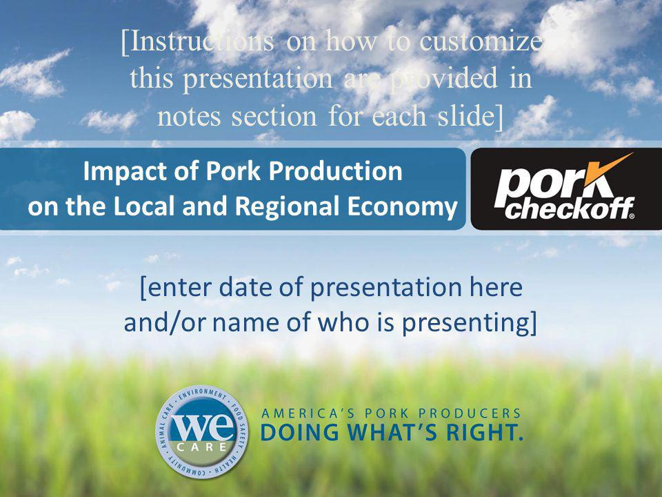 Agenda/Topics Covered Our Mission Overview of our pork production operation Our economic impact of building and operating a new facility