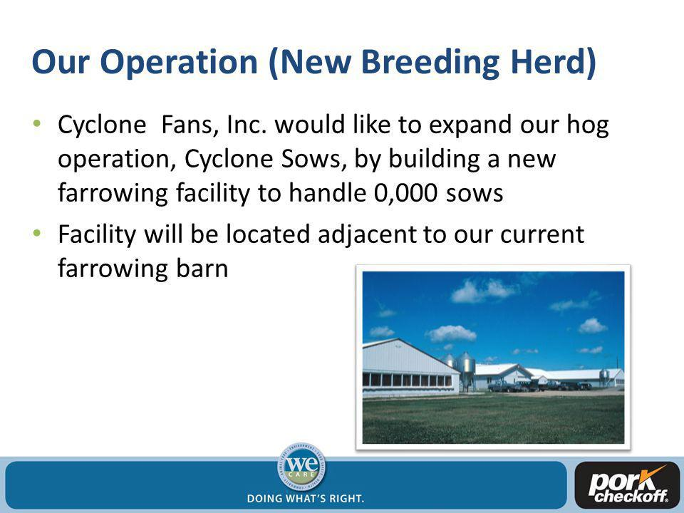 Our Operation (Existing Breeding Herd) In 0000 Cyclone Fans, Inc.