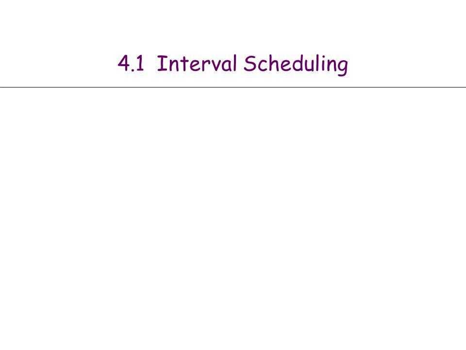 4.1 Interval Scheduling