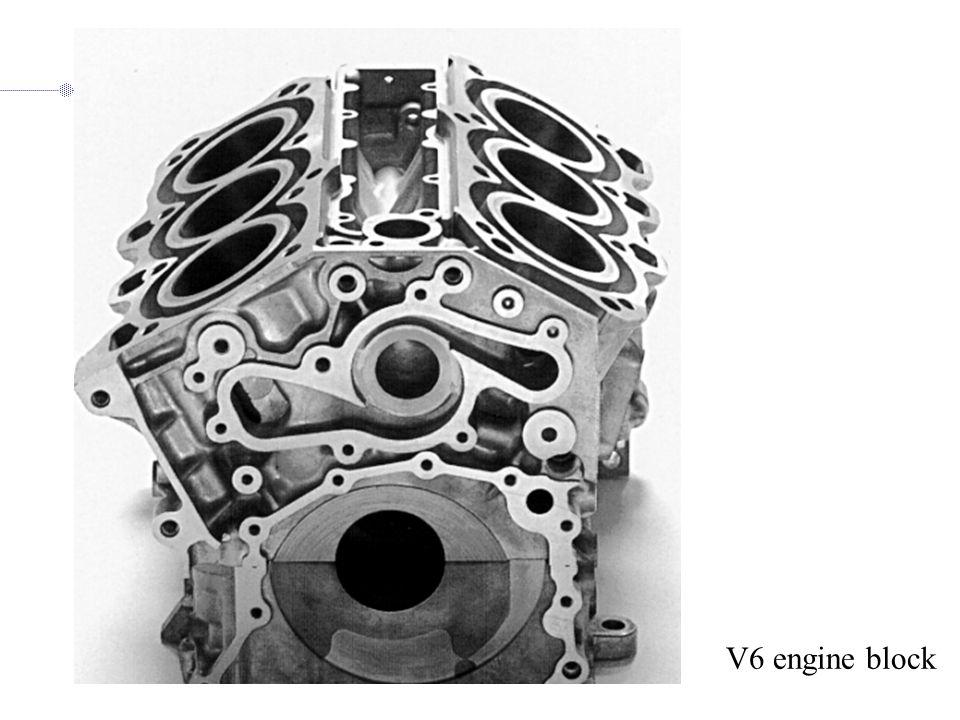 V6 engine block