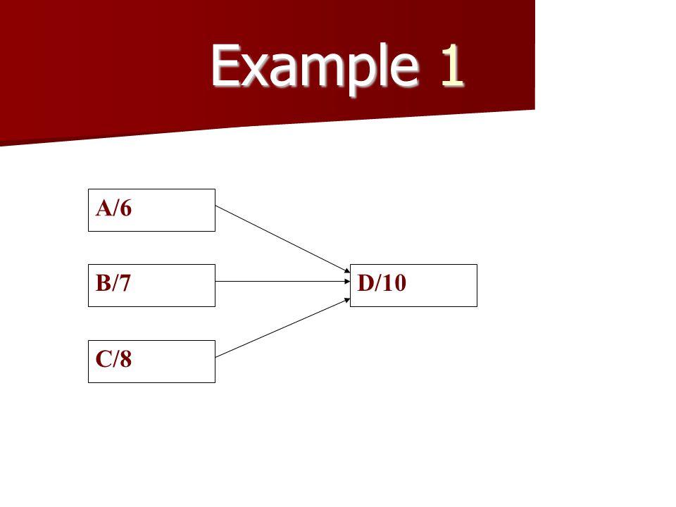 Example 1 A/6 B/7 C/8 D/10