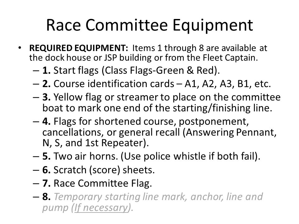 Completing Check In Add any information that is not already on the sheet: name of boat, sail number, and division.