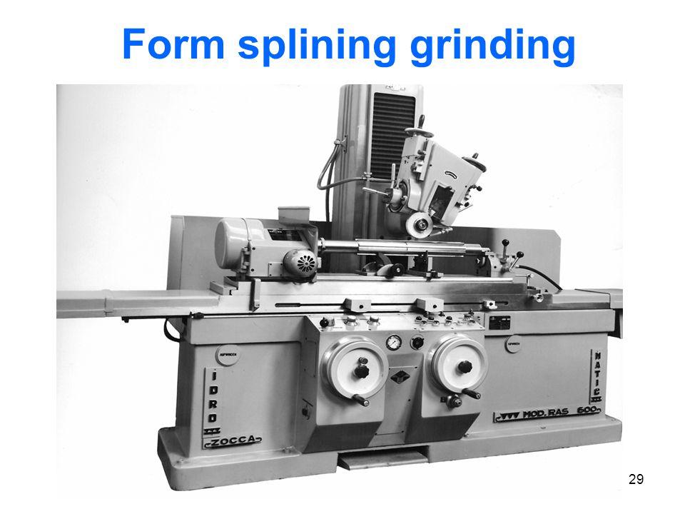 29 Form splining grinding