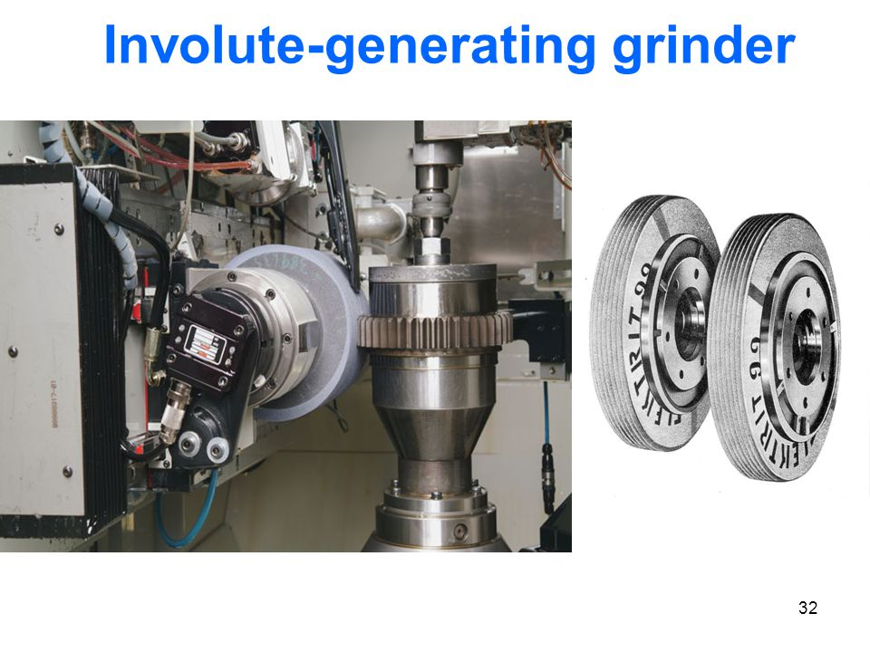 32 Involute-generating grinder