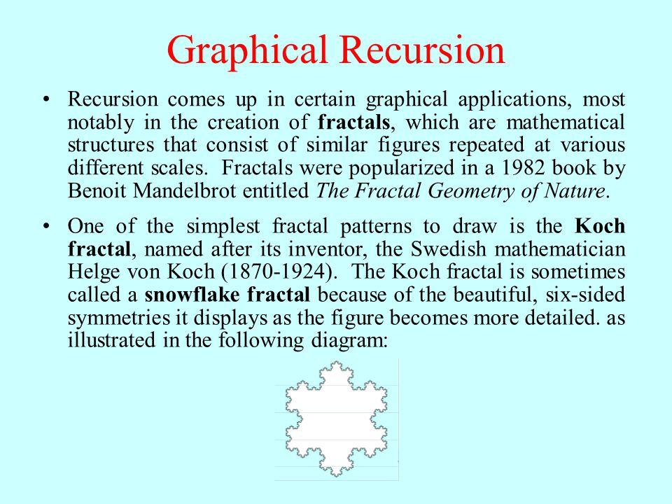 Methods in the Graphics Library InitGraphics() Initializes the graphics library and clears the graphics window.