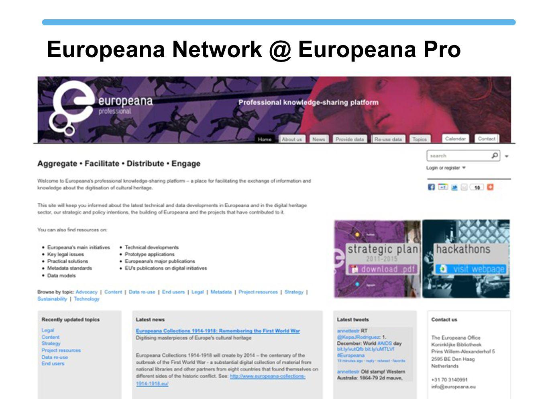 Europeana Network @ Europeana Pro