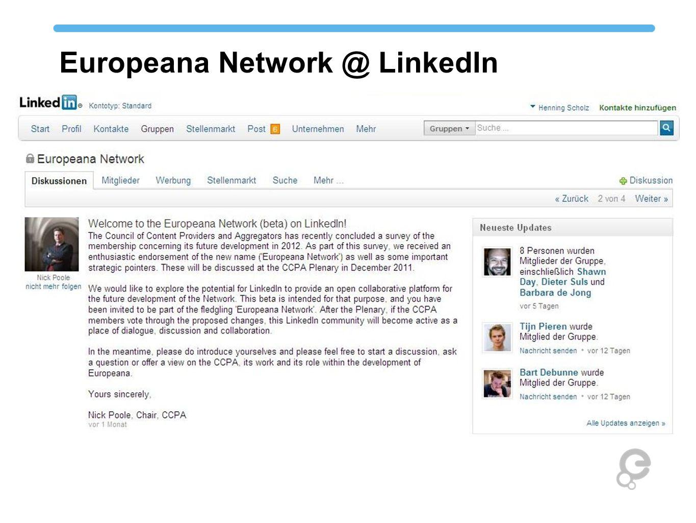 Europeana Network @ LinkedIn