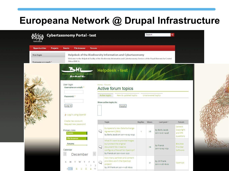 Europeana Network @ Drupal Infrastructure
