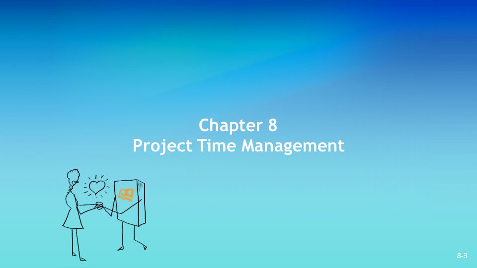 8-34 Managing the Schedule To measure the progress of the project: – Determine the percentage of resources expended – Determine the milestones achieved – Determine the activities which have been completed by scheduled dates Resource leveling: Distributing work load to reduce uneven concentrations of work