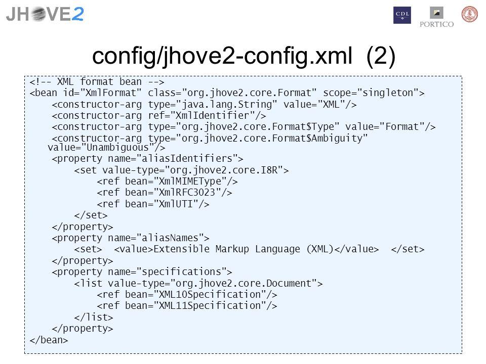 config/jhove2-config.xml (2) Extensible Markup Language (XML)