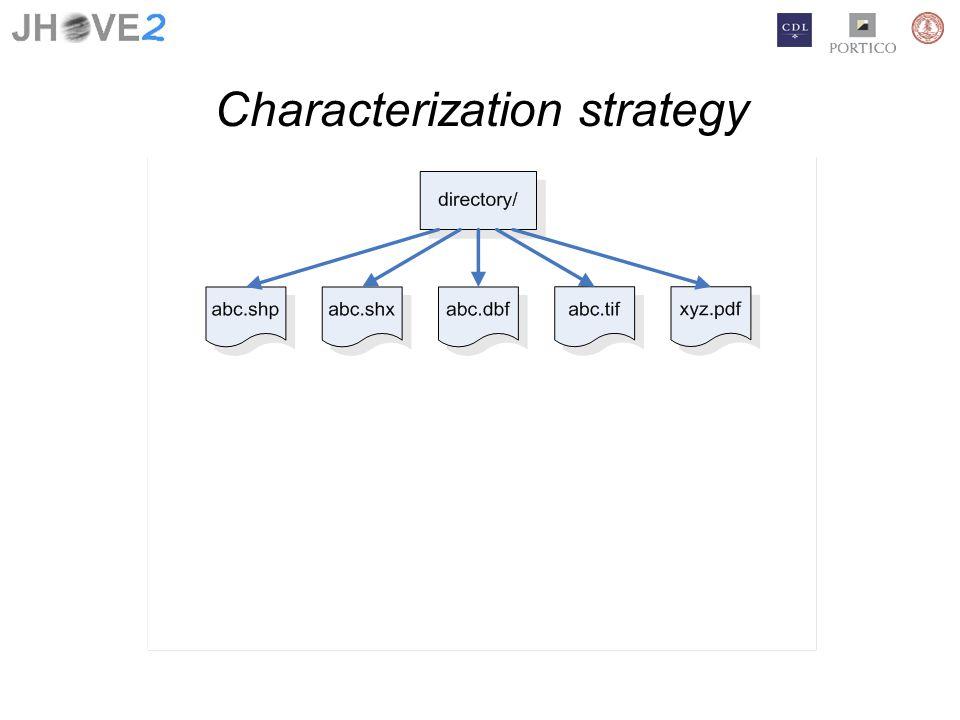 Characterization strategy