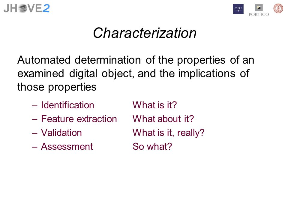 Aggregate identification and recursive characterization