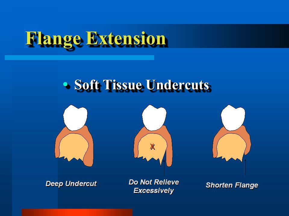Flange Extension Soft Tissue Undercuts Soft Tissue Undercuts