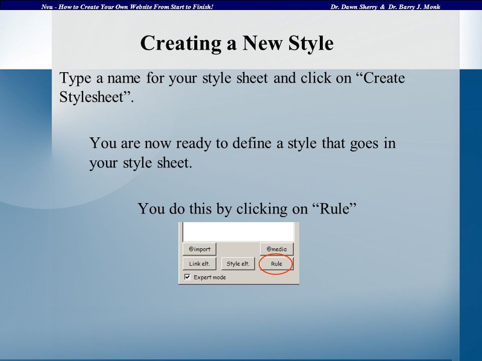 Nvu - How to Create Your Own Website From Start to Finish!Dr.