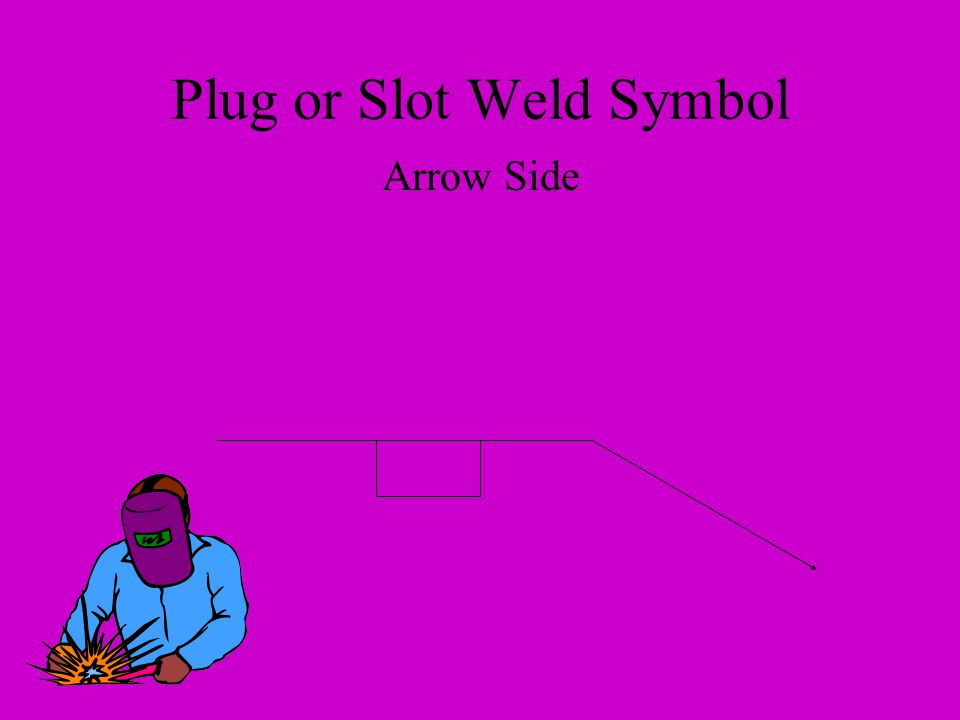 Plug or Slot Weld Symbol Arrow Side