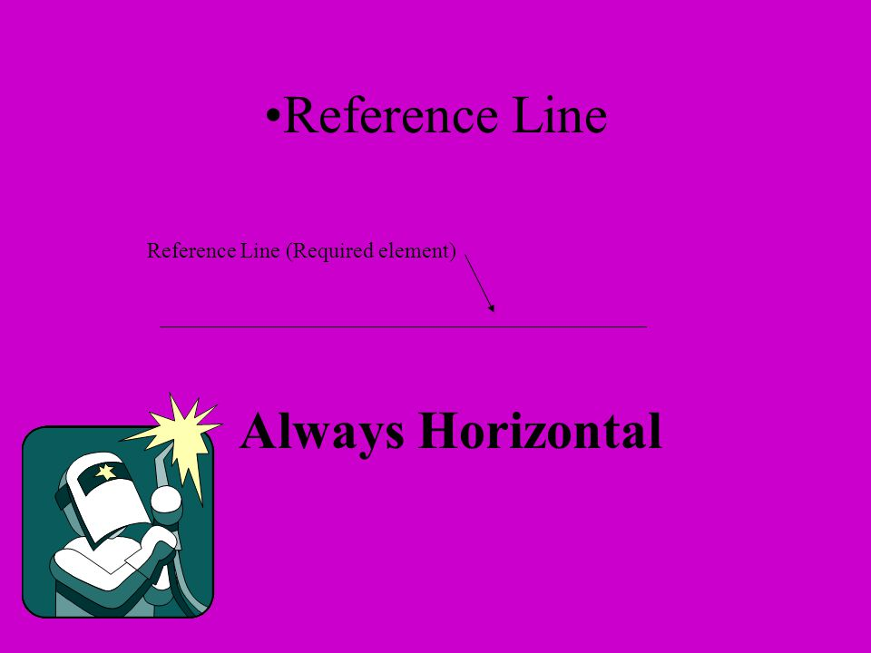 Reference Line (Required element) Reference Line Always Horizontal