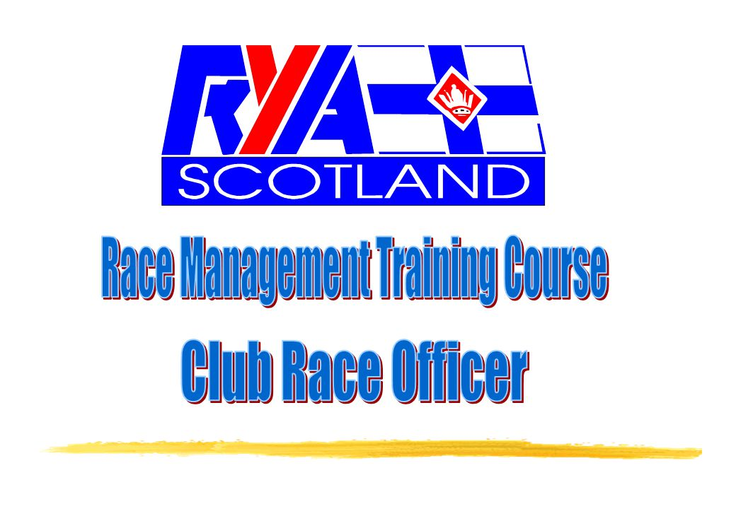 CRO 12 One method of club organisation (race management aspects only)