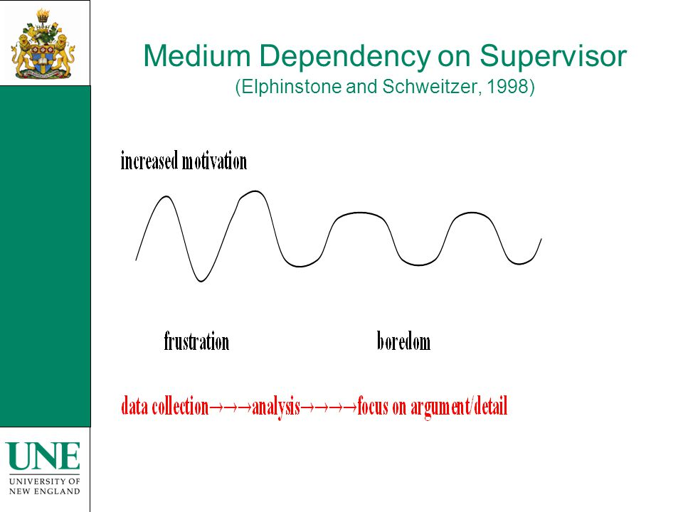 Medium Dependency on Supervisor (Elphinstone and Schweitzer, 1998)