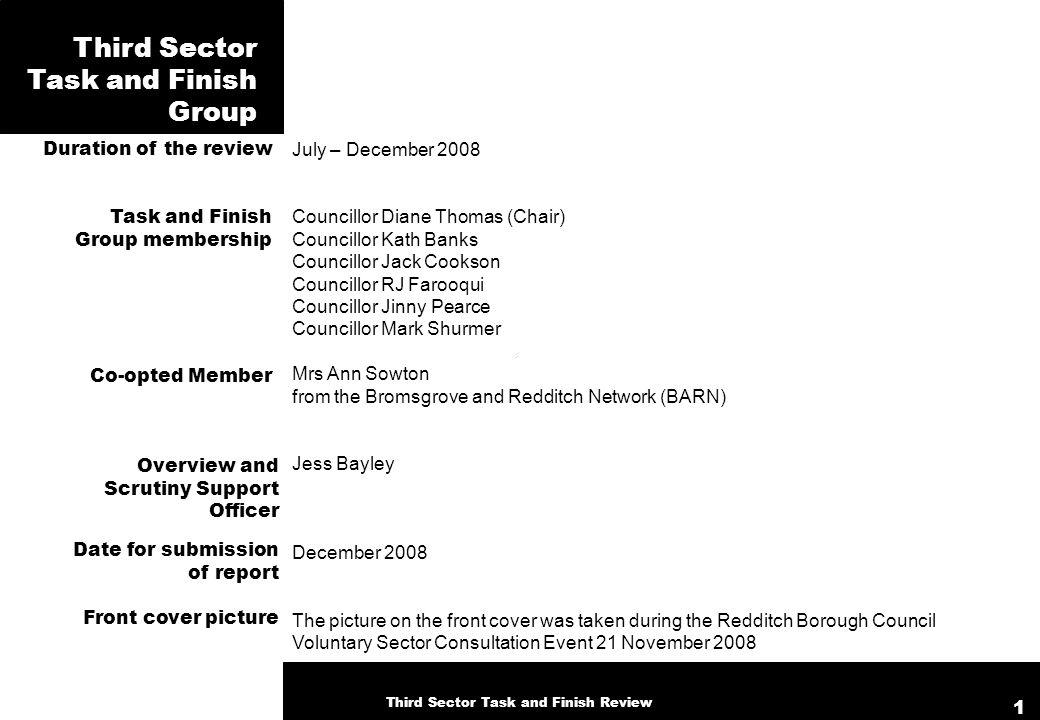 July – December 2008 Councillor Diane Thomas (Chair) Councillor Kath Banks Councillor Jack Cookson Councillor RJ Farooqui Councillor Jinny Pearce Coun