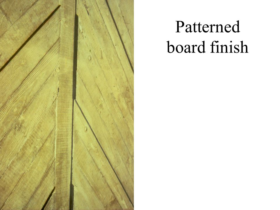 Patterned board finish
