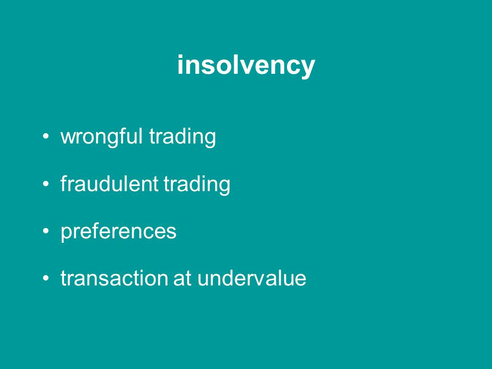 statute insolvency health & safety Companies Act 2006