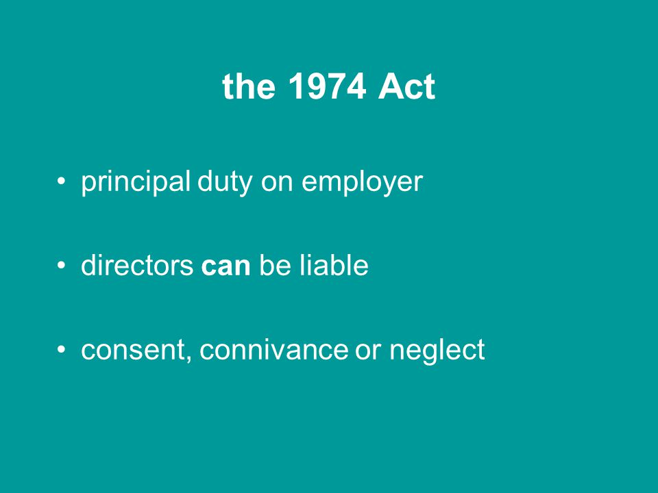 corporate manslaughter Health and Safety Act 1974 Corporate Manslaughter Act 2007