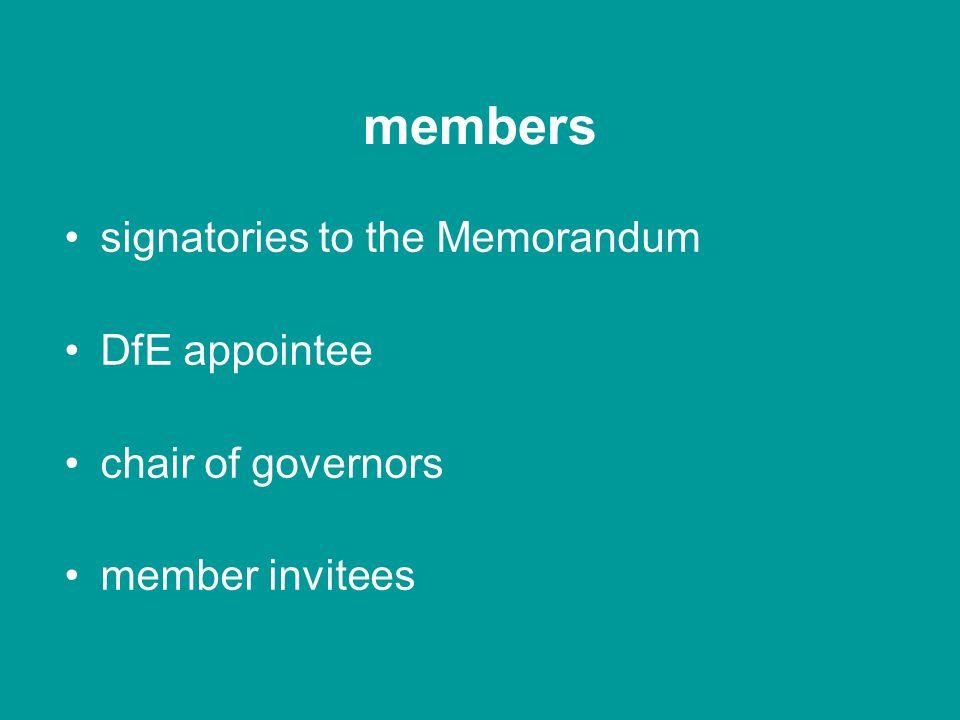 legal structure members governors executive secretary committees