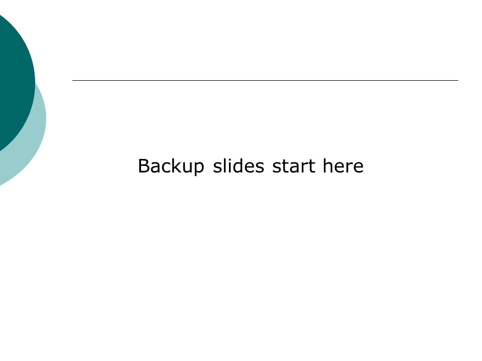Backup slides start here
