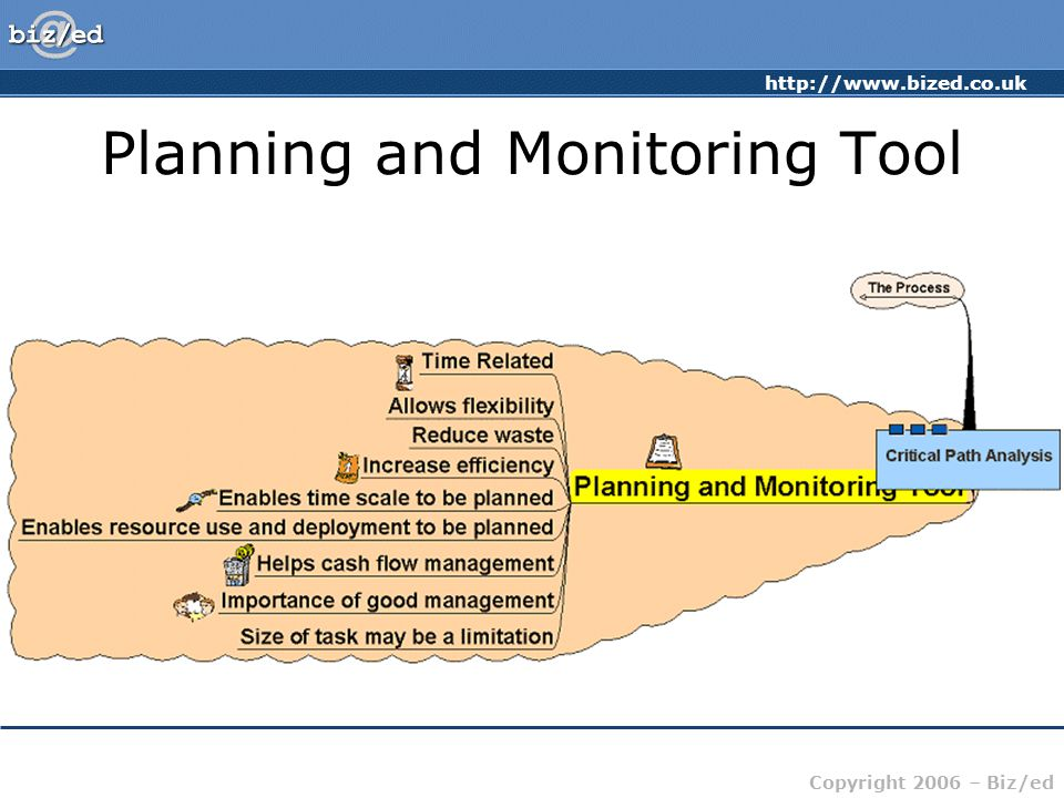 http://www.bized.co.uk Copyright 2006 – Biz/ed Planning and Monitoring Tool