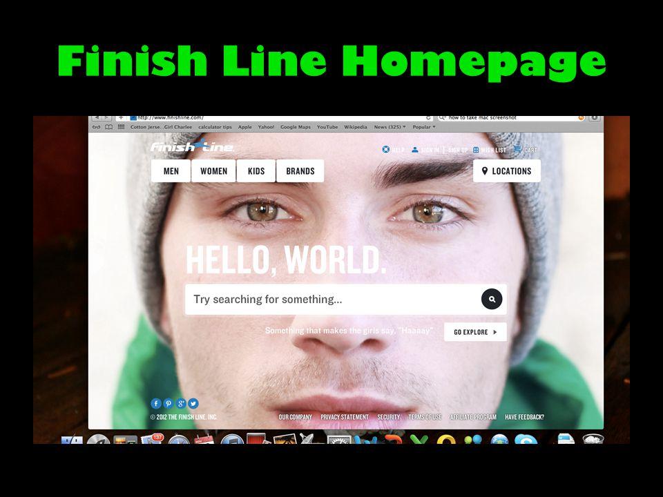 Finish Line Homepage