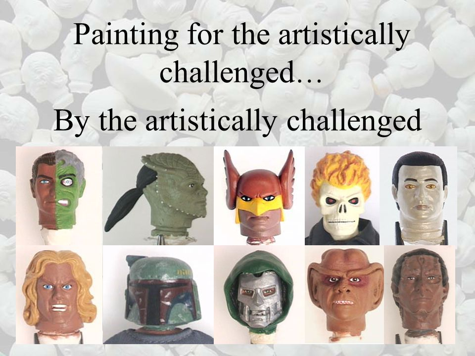 Painting for the artistically challenged … By the artistically challenged
