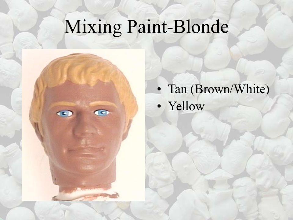 Mixing Paint-Blonde Tan (Brown/White) Yellow