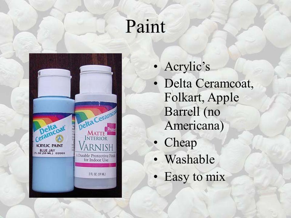 Paint Acrylics Delta Ceramcoat, Folkart, Apple Barrell (no Americana) Cheap Washable Easy to mix
